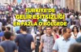 Türkiye'de gelir eşitsizliği en fazla o bölgede