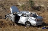 Uşak'ta trafik kazası: 1 ölü, 1 yaralı