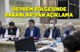 İzmir'de deprem bölgesindeki Bakanlar'dan açıklama