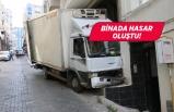 İzmir'de kamyonet yokuş aşağı kaydı!