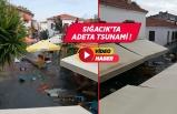 İzmir Seferihisar'da deniz taştı!