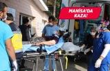 Manisa'da kaza! Minibüs devrildi yaralılar var