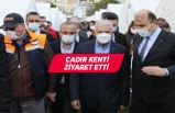 Binali Yıldırım, İzmir'deki çadır kenti ziyaret etti
