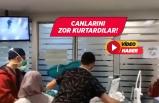 Hastanede sağlık çalışanlarına saldırı!