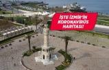 """İzmir'in koronavirüs haritasında """"kırmızı"""" alarm!"""