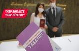 Konak'ta nikâhla İstanbul sözleşmesi bir arada