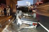 Otomobil köprüden düştü: 3 yaralı