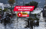 Seferihisar'daki tsunami felaketi kameralara yansıdı