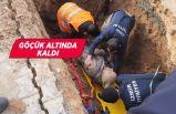 İzmir'de göçük altında kalan işçi hastaneye kaldırıldı