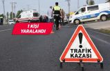 İzmir'de otomobille motosiklet çarpıştı!