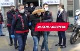 İzmir'de suç örgütüne yönelik operasyonda yakalanan zanlılar adliyede