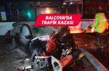 İzmir Balçova'da kaza! Otomobil ve ESHOT otobüsü çarpıştı