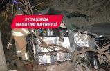 İzmir'de feci kaza! Elektrik direğine çarptı