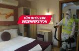 Konak Belediyesi'nden ilçedeki tüm otellere dezenfeksiyon