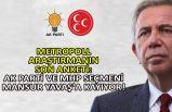 MetroPoll araştırmanın son anketi: AK Parti ve MHP seçmeni Mansur Yavaş'a kayıyor!