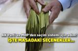 AK Parti ve MHP'den seçim sistemi için adım! İşte masadaki seçenekler...