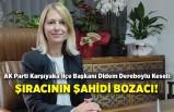 AK Partili Keseli: Şıracının şahidi bozacı!
