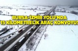 Bursa-İzmir Yolu'nda 15 kilometrelik araç konvoyu!