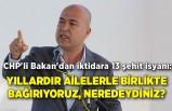 CHP'li Bakan'dan iktidara 13 şehit isyanı: Yıllardır ailelerle birlikte bağırıyoruz, neredeydiniz?