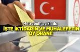 'Metropoll' açıkladı: İşte iktidarın ve muhalefetin oy oranı!