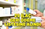 29 ilaç geri ödeme listesine alındı