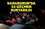 34 göçmen, Sahil Güvenlik ekiplerince kurtarıldı