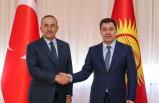 Bakan Çavuşoğlu, Kırgızistan Cumhurbaşkanı Japarov ile görüştü