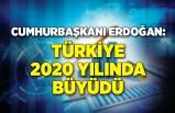 Cumhurbaşkanı Erdoğan: 2020 yılında Türkiye büyüdü
