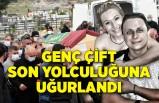 İzmir'de ölü bulunan genç çift son yolculuğuna uğurlandı