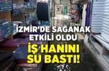 İzmir'de sağanak etkili oldu, iş hanını su bastı