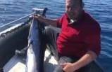 KKTC'de yakalandı! 40 kiloluk dev kılıç balığı
