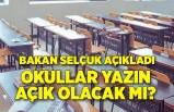 Milli Eğitim Bakanı Ziya Selçuk'tan yüz yüze sınav ve ara tatil açıklaması