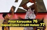 Pınar Karşıyaka: 76 - Hapoel Unet-Credit Holon: 77