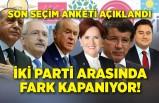 Son seçim anketi açıklandı! İki parti arasında fark kapandı