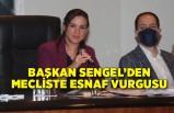 Başkan Sengel'den mecliste esnaf vurgusu