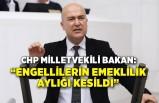 CHP'li Bakan: Engellilerin emeklilik aylığı kesildi