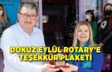 Dokuz Eylül Rotary'e teşekkür plaketi