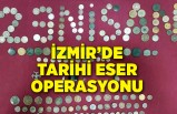 İzmir'de 263 parça tarihi eserle yakalanan 2 kişiye gözaltı
