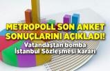 Metropoll son anket sonuçlarını açıkladı! Vatandaştan bomba İstanbul Sözleşmesi kararı