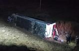 Sivas'ta yolcu otobüsü devrildi: 39 yaralı