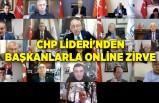 CHP Lideri'nden başkanlarla online zirve