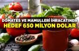 Domates ve mamulleri ihracatında hedef 650 milyon dolar