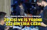 Eğlenceye polis baskını: 29 kişi ve iş yerine 222 bin lira ceza