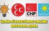 İzmir siyasetinde online bayramlaşma