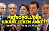 MetroPOLL'den dikkat çeken anket! İmamoğlu, Yavaş ve Akşener...