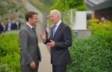 Biden'ın G7 yemeğinden Macron paylaşımı