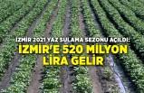 İzmir 2021 yaz sulama sezonu açıldı: İzmir'e 520 milyon lira gelir
