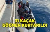 Karaburun açıklarında 31 kaçak göçmen kurtarıldı