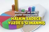 Metropoll'ün anketi gözler önüne serdi: Halkın sadece yüzde 6'sı inanmış