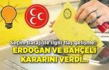 Seçim barajı ile ilgili flaş gelişme! Erdoğan ve Bahçeli kararını verdi…